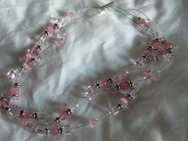 Pink Illusion Necklace View 2 by StrayArya