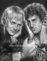 Starsky and Hutch Leaning by enednoviel