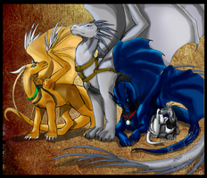 Four Dragons of the Planets by bluedrgnMethy