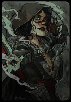 Hawke multiplayer card by Misao-Christina