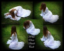 White Dress Pack by stock4ever23