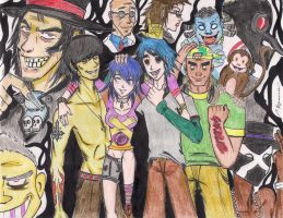 Gorillaz Anime1 by Cashopeia