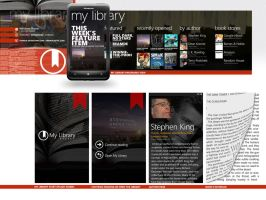 My Library-concept WP e-reader by yankoa