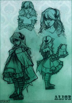 alice sketch page by loish