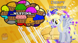 Background: Derpy and Muffins by Vividkinz
