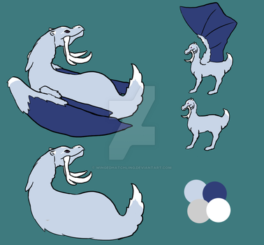 Ice Dragon Adopt by wingedhatchling