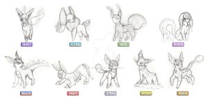 Sketch - Fakemon Eeveelutions