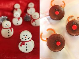 Christmas Macarons by cakecrumbs