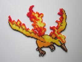 Moltres by 8-BitBeadsStudio