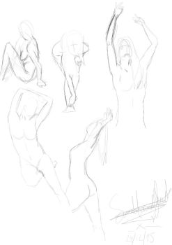 life drawing practice by butt-4-brains