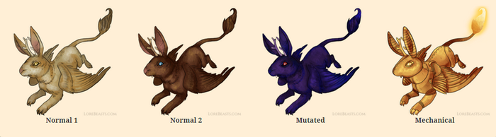 Wolpertinger for LoreBeasts.com by LyndseyLittle