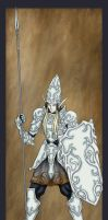High Elven Pikeman by Archaia