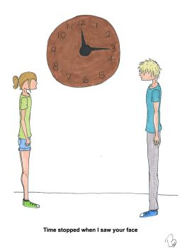 Time stopped when I saw your face by ninjababy01