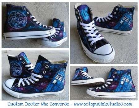 Custom Doctor Who Converse! by DragonSpirit469