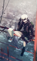 YoRHa No.9 or 9S from nier automata by Delomia