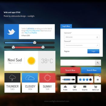 Web and App UI Kit PSD Included by vasiligfx