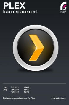 PLEX icon Replacement by sub88