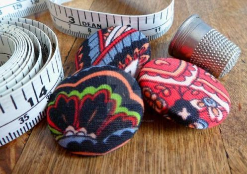 Recycled fabric buttons set by hmwillustration