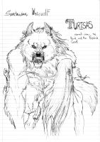Turisas getting ready to be colored by GaaraxNeevy