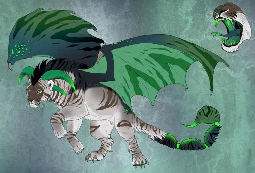 Manticore character design 2 - AUCTION! by NadiavanderDonk