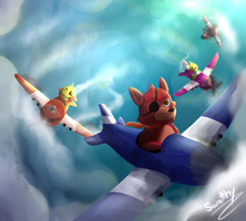 Foxy Fighters by Swatthy