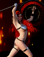 Red Sonja - Time to Play by Vad-mig-orolig