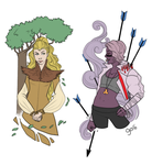 Day 241: Avar and Tyr by kiranox
