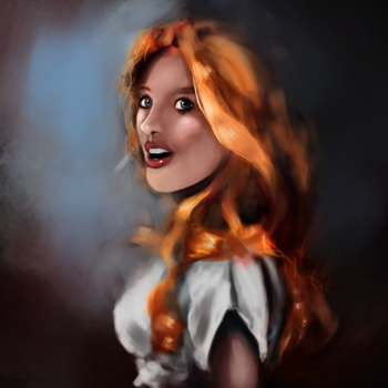 Orange haired girl by Dobbydoo