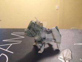 Dollar Bulldog by amazingorigami
