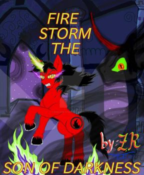 Fire Storm the son of darkness comic poster i make by King-Fire-Storm