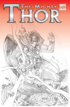 The Mighty Thor Blank Cover Commission by felixicarusmorales