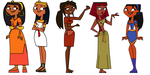 Total Drama Papyrus girls by PPapyrus