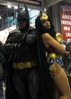 Batman and Wonder Woman - NYCC 2012 by SpideyVille