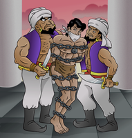 Captured by the Sultan's Guards by JungleCaptor