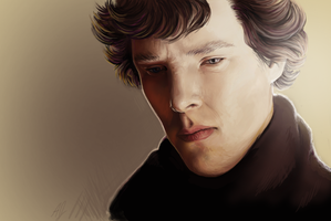 Sherlock BBC by grouchywolfpup