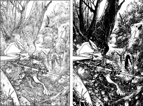 Buck Cover pencils and inks by Spacefriend-KRUNK