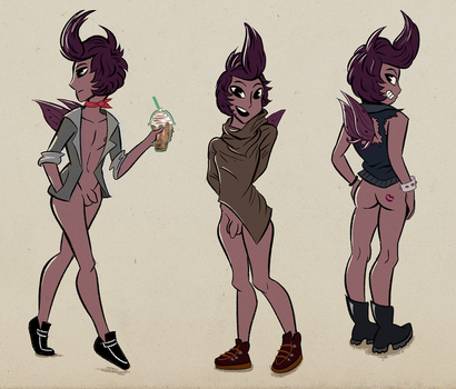 Damien's Outfits - Nudist Fashion #1 by saundersaur