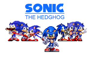 The many faces of Sonic by Tailikku1