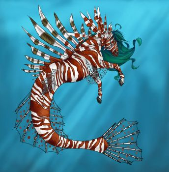 Lionfish Hippocampus by Horseyperson