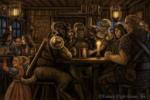 Tavern for Descent by feliciacano