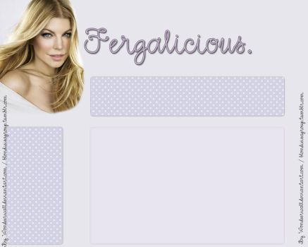 Fergie Web Template by wondeerwall
