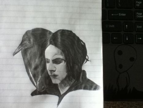 Jack White in Black and White by BorderlineCreep99