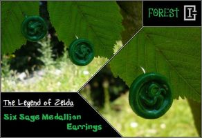Zelda Medallion Earring Forest by Riomy