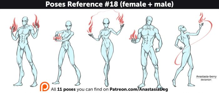 Poses Reference #18 (female + male) by Anastasia-berry