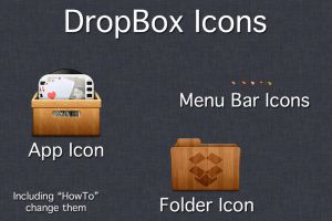 Wooden DropBox Icons by TheRoaring20s