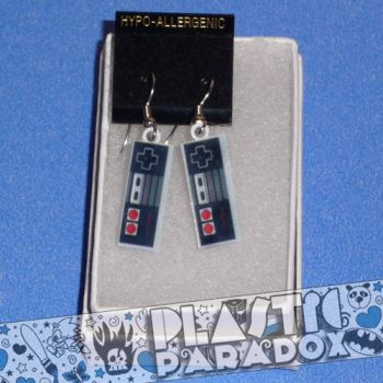 NES Controller Earrings by Plastic-Paradox