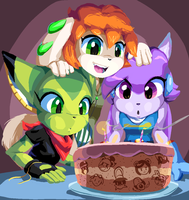 Freedom Planet 2nd Anniversary! by goshaag