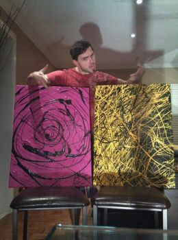 Purple and Yellow Paintings by marcinmigdal