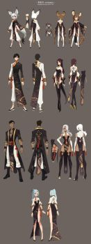 Bns costumes design by ZiyoLing