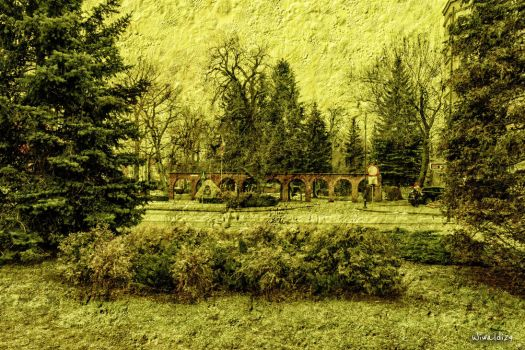 The park in Tczew by wiwaldi24
